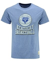 Retro Brand Men's Kentucky Wildcats Basketball Vault Logo Tri Blend T Shirt Heather Blue