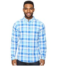 Royal Robbins Painted Canyon Plaid Long Sleeve Oceania Men's Long Sleeve Button Up Blue