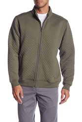 Tommy Bahama Quilt This City Zip Up Jacket Beetle Gre