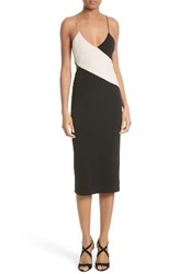 Alice Olivia Women's Aurora Colorblock Slipdress Black Champagne