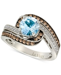 Le Vian Aquamarine 1 Ct. T.W. And Diamond 3 8 Ct. T.W. Ring In 14K White Gold