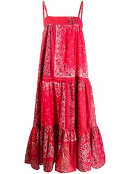 Semicouture Paisley Print Dress Red