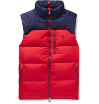 Polo Ralph Lauren Colour Block Quilted Padded Shell Gilet Red