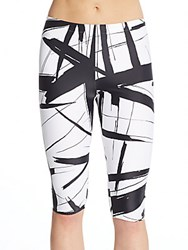 Norma Kamali Abstract Print Cropped Leggings Abstract Blue