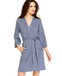 Jockey Cotton Interlock Robe Chambray