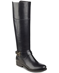 Tommy Hilfiger Shahar Wide Calf Riding Boots Women's Shoes Black