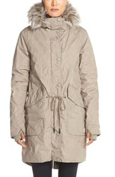 Women's Bench 'Big Timer' Insulated Parka With Faux Fur Trim Elephant Skin
