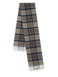 Barbour Merino Wool And Cashmere Plaid Scarf Multi