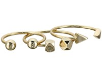 French Connection Bead Midi Ring Set Gold Ring