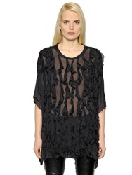 Faith Connexion Ruffled Silk Voile Top