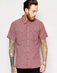 Patagonia Shirt With Check Short Sleeves Regular Fit Red