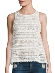 Generation Love Lilith Cotton Lace Tank Top White