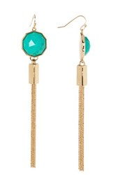 Trina Turk Tassel Drop Earrings Green