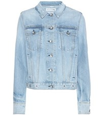 Rag And Bone Avenida Eyelet Denim Jacket Blue