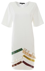 Judy Wu Beaded Tee Dress White