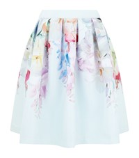 Ted Baker Hanging Gardens Twill Midi Skirt Female Mint