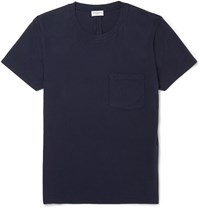 Saint Laurent Slim Fit Cotton Jersey T Shirt Blue