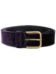Dries Van Noten Square Buckle Belt Pink And Purple
