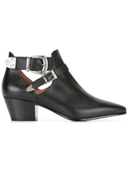 Twin Set Buckled Ankle Boots Black