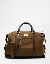 Sandqvist Jordan Waxed Cotton Carryall Green