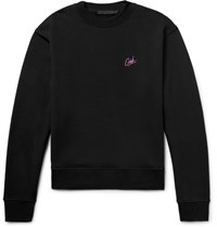 Alexander Wang Embroidered Loopback Cotton Jersey Sweatshirt Black
