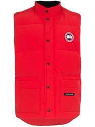 Canada Goose Freestyle Crew Quilted Down Gilet Red