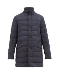 Herno Il Cappotto Quilted Down Coat Blue