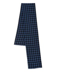 Saks Fifth Avenue Houndstooth Silk Scarf