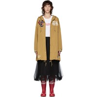Undercover Beige 'Total Youth' Hooded Rain Coat