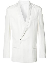 Haider Ackermann Shawl Lapel Crossed Blazer White