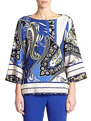 Etro Paisley Boatneck Blouse Multicolor
