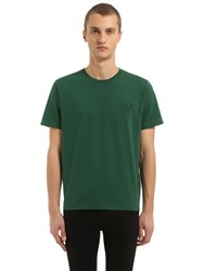 Coach T Rex Embroidered Cotton Jersey T Shirt Green