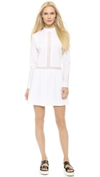 Public School Pleated Missionary Dress White