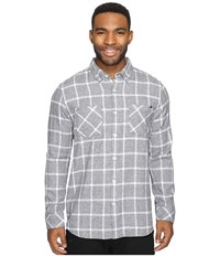 Rip Curl Gridlock Long Sleeve Woven Charcoal Men's Clothing Gray