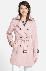 Women's London Fog Heritage Trench Coat With Detachable Liner Vintage Pink