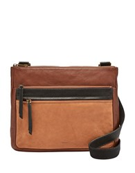 Fossil Corey Leather Crossbody Bag Multi Brown
