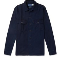 Blue Blue Japan Indigo Dyed Cotton Twill Shirt