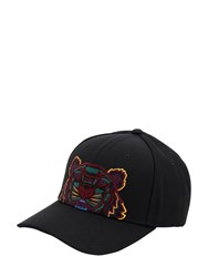 Kenzo Lion Embroidered Nylon Baseball Hat Black