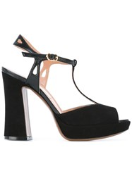 L'autre Chose Chunky Heel Sandals Black