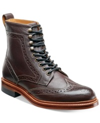 Stacy Adams Madison Ii Wing Tip Boots Men's Shoes Oxblood Milled