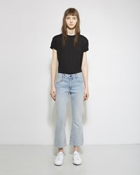 Alexander Wang Trap Cropped Denim Light Indigo Aged