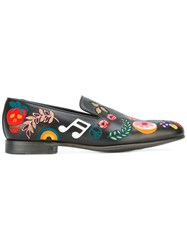 Paul Smith Embroidered Loafers Black