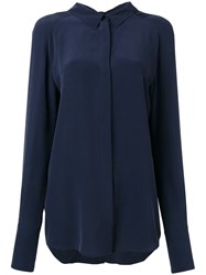 Cedric Charlier Concealed Fastening Shirt Blue