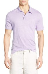 Men's John Varvatos Star Usa Trim Fit Peace Sign Polo Lilac Mist