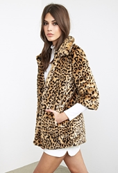 Forever 21 Faux Fur Cheetah Coat