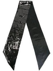 Dsquared2 Sequin Embellished Scarf Black
