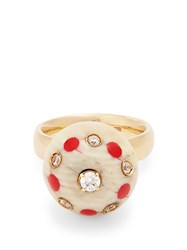 Francesca Villa Pois Diamond And Yellow Gold Ring White