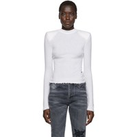 Unravel White Boiled Spaline Sweater