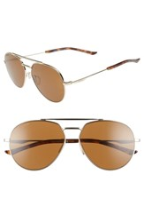 Smith Westgate 60Mm Chromapop Tm Polarized Aviator Sunglasses Gold Brown Gold Brown