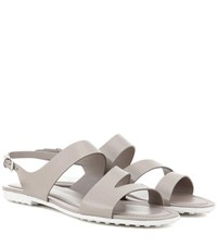 Tod's Leather Sandals Grey
